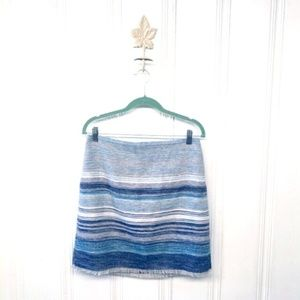 Loft Striped Woven Blanket Mini Skirt Size 10